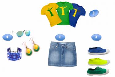 Un look complet au couleurs du Brésil pour suivre la coupe du Monde de football