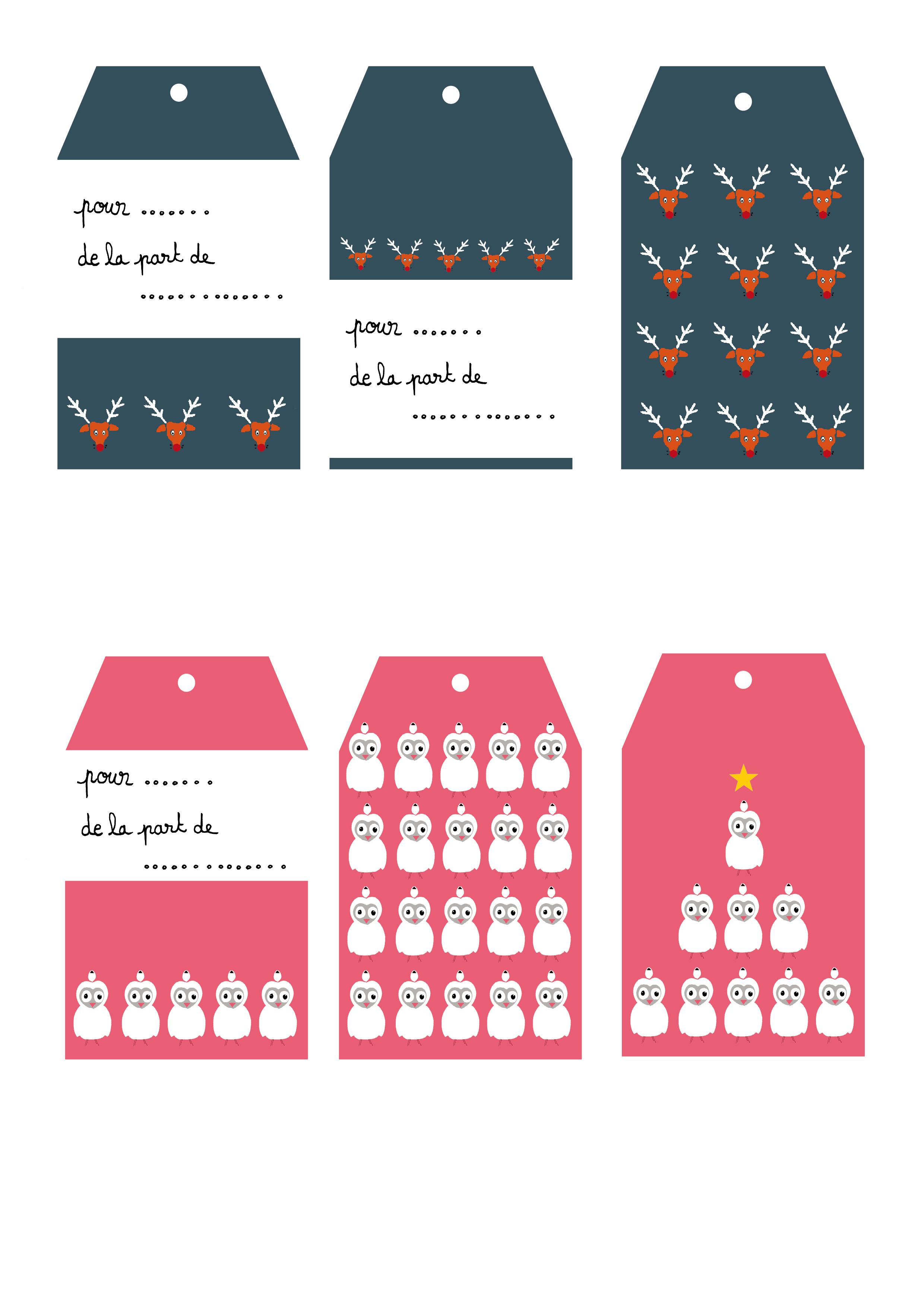 Assez Étiquettes cadeaux à imprimer par Louise Maudet pour So What? | So  TC13