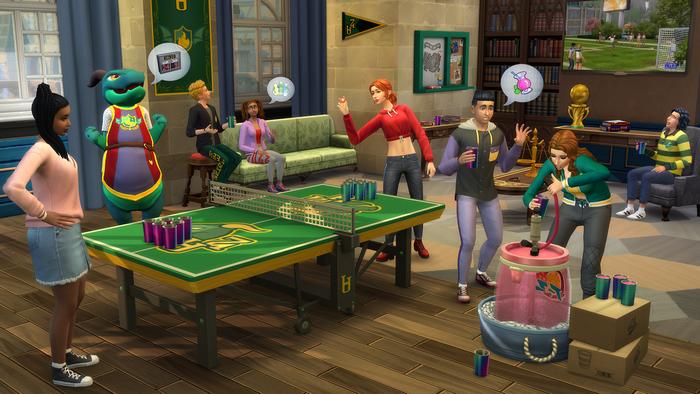Les Sims 4 À la fac